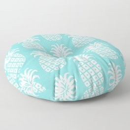 Retro Mid Century Modern Pineapple Pattern 732 Turquoise Floor Pillow