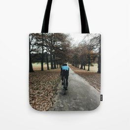 cycling in wollanton park Tote Bag
