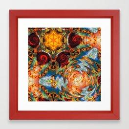 Liquid Spirals Framed Art Print