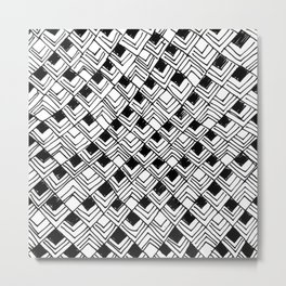 black and white squares I Metal Print