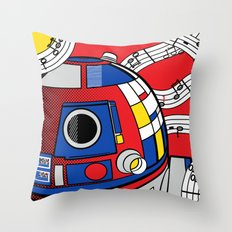 Star Wars Pop Art - Abstract R2D2 Throw Pillow