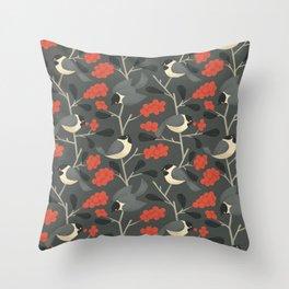 Chipper Chickadees Throw Pillow
