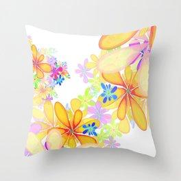 Flowers by John Logan Throw Pillow