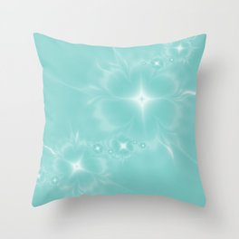 Fleur de Nuit in Aqua Tone Throw Pillow