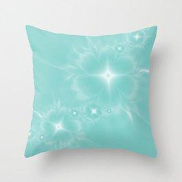 Fleur de Nuit in Aqua Tone Throw Pillow