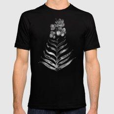 Blooming Black Orchid Mens Fitted Tee MEDIUM Black