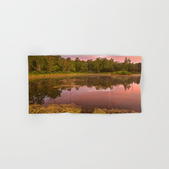 Pink Twilight Marsh Hand & Bath Towel