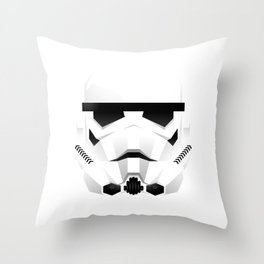 """WHITE TROOPER"" Throw Pillow"