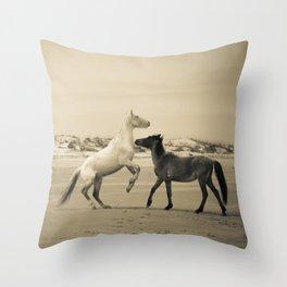 Wild Horses 2 Throw Pillow