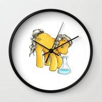 my little pony Wall Clocks featuring My Little Pony: Yusuf by aredblush