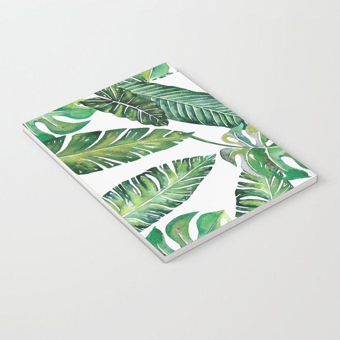 Jungle Leaves, Banana, Monstera #society6 Notebook