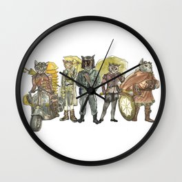 Steampunk Justice Revolution Clan Wall Clock