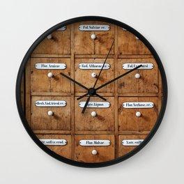 Pharmacy storage Wall Clock