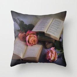 Romantic Reading Throw Pillow