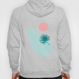 Tropical Beach, Minimalist Abstract Illustration Hoody
