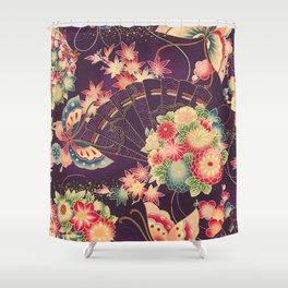 Hyakka Ryoran Kimono Inspired Shower Curtain