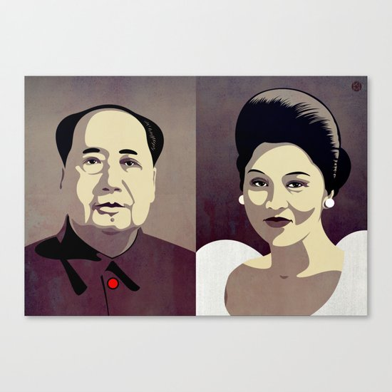 Dictators in Love: When Mao Met Imelda Canvas Print