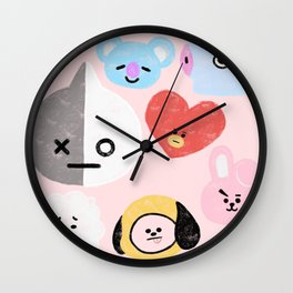 BTS21 Characters in Pastel Wall Clock