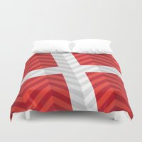 denmark Duvet Covers featuring Denmark Flag by m. arief (mochawalk)