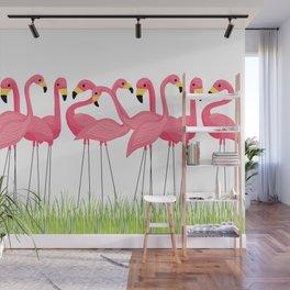 Cuban Pink Flamingos Wall Mural