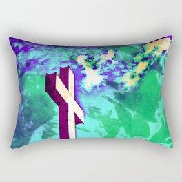 Holy Cross Purple & Green Rectangular Pillow