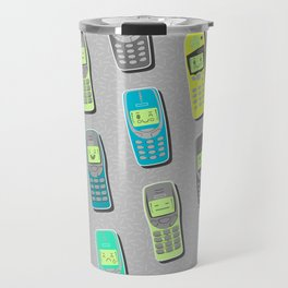 Vintage Cellphone Pattern Travel Mug