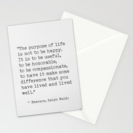 Ralph Waldo Emerson awesome quote 6 Stationery Cards