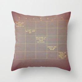 Beckett Bingo Throw Pillow