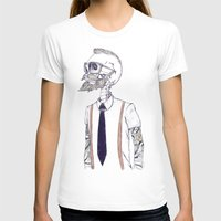 gentleman T-shirts featuring The Gentleman becomes a Hipster  by Mike Koubou
