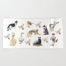 Animal Gathering! Beach Towel