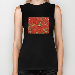 Wyoming in Flowers Biker Tank