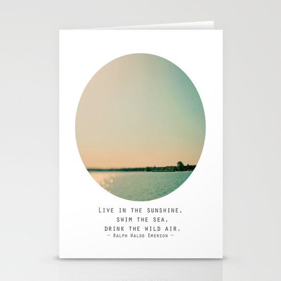 Swim The Sea Stationery Cards