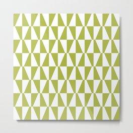 Mid Century Modern Geometric 312 Olive Green Metal Print
