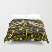 christmas tree Duvet Covers featuring Christmas Tree by Pati Designs
