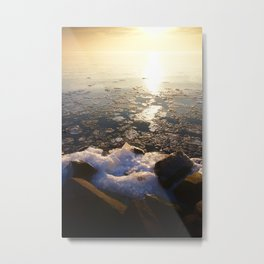 Sunset over Ice Lake Metal Print
