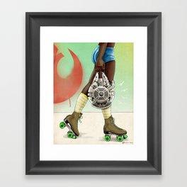 Skate Wars - Rebel Alliance Framed Art Print
