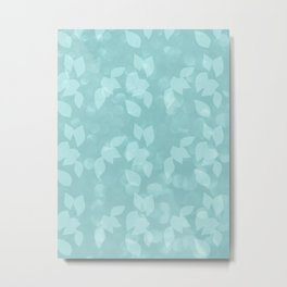 Leaves in Dappled Sunlight aqua Metal Print