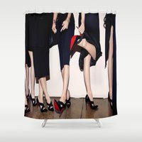 shoes Shower Curtains featuring Shoes by Aldo Couture