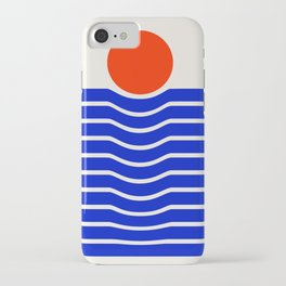 Going down-modern abstract iPhone Case