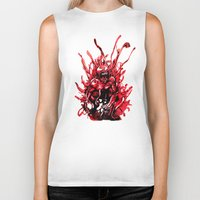 carnage Biker Tanks featuring Carnage watercolor by Noel Castillo