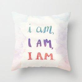 I Am, I Am, I Am Throw Pillow