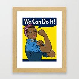 Black Rosie the Riveter Framed Art Print