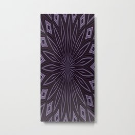 Eggplant and Aubergine Floral Design Metal Print