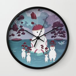 Mellow Trees Wall Clock