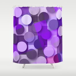 squares & dots violet Shower Curtain
