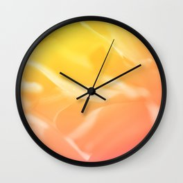 Abstract Marigold Dreams Sparkle Bokeh Wall Clock