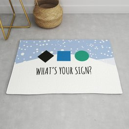 What's Your Sign? for Ski and Snowboard Lovers Rug