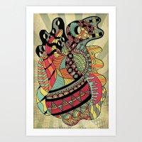 carousel Art Prints featuring Carousel by Tuky Waingan