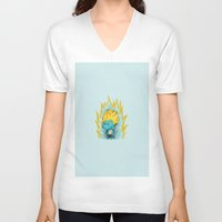 gumball V-neck T-shirts featuring SSJ Gumball by Miles Cameron