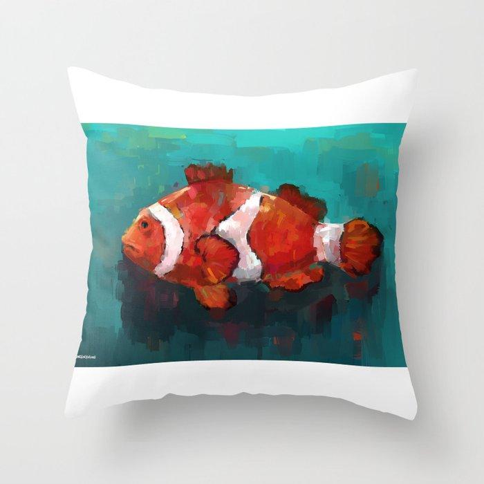 Red Clown Throw Pillow